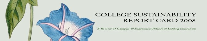 The College Sustainability Report Card